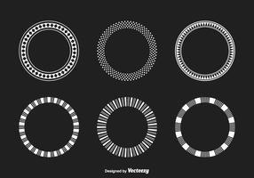 Geometrisk Funky Ramar Vector Set
