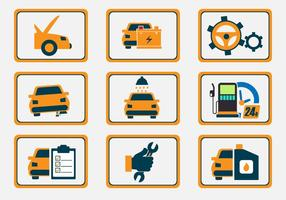 Auto Body Repair Icon Vectors