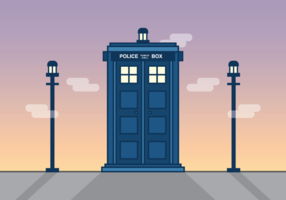 Tardis Vector Illustration