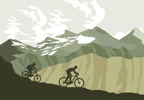 Bicicleta de montaña rastro vector