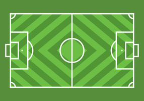 Green Simple Football Ground Vector