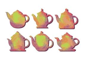 Teapot water color vector