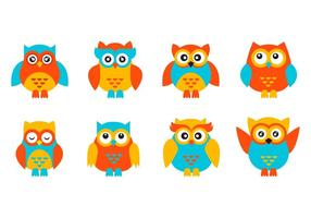 Cute Character Owl Vector