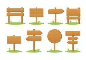 Em branco Madeira Vector Signpost de madeira