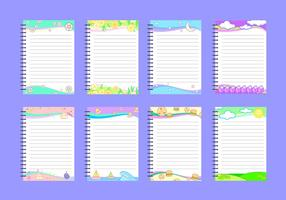 Söt Block Notes Free Vector