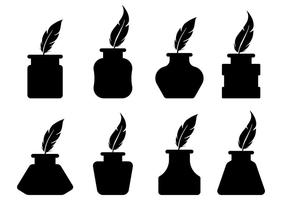 Free Inkwell Icons Vector