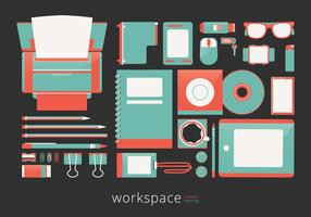 Creative-workspace-with-tools-and-stationery-set