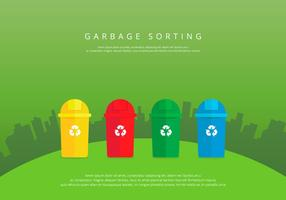 Landfill Garbage Colorful Sorting
