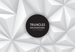 Triángulos fondo gris del gradiente del vector