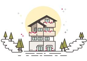 Little Cutie Chalet Gratis Vector