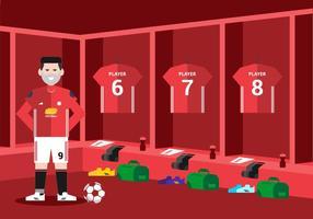 Fotboll Omklädningsrum Bakgrund