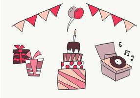 Hand Drawn Festa Party Vector Pack