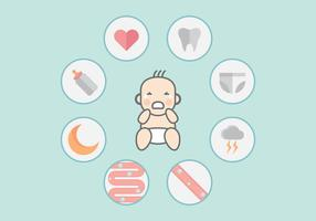 Pleurer bébé Infographic Vector