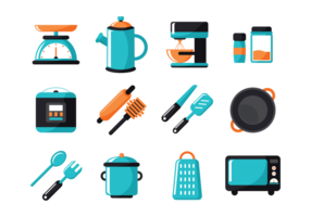 Vector Icons de cuisine