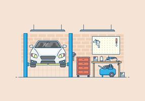 Auto Body Garage Illustration