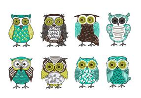 Scandinavian Buho of Owls Vector Collection