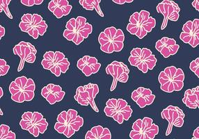 Blue And Pink Petunia Pattern vector