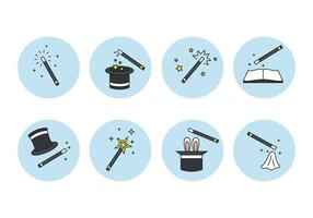 Magic Stick und Element Icons Set