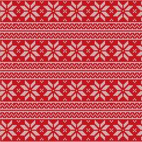 Red Christmas Fabric Vector Pattern