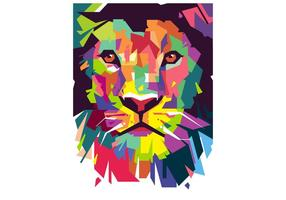 Lion wpap vecteur