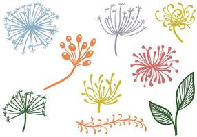 Fria prydnadsväxter vektorer