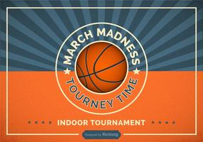 Free Basketball Madness Vector Retro Poster