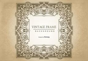 Fundo do frame de Grunge do vintage