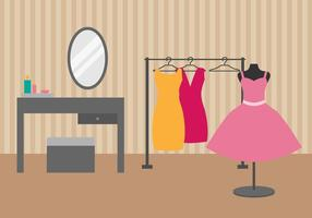 Free Dressing Room Vector Illustration