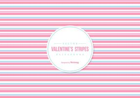 Las rayas de colores de fondo de San Valentín vector