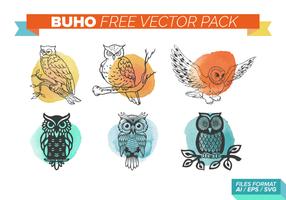 pacchetto di buho free vector