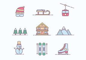 Gratis Winter skidort icon