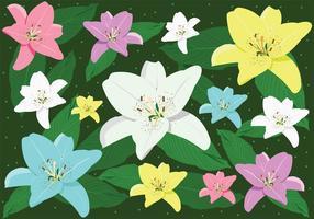 Pascua Lily Arte del vector