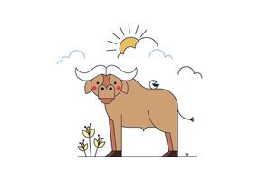 Buffalo Gratis-Vector