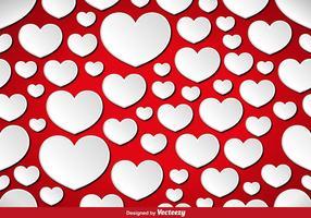 Vector Hearts sömlösa mönster.
