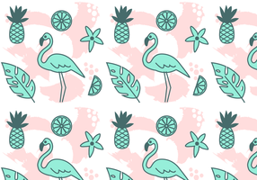 Free Vector Tropical Pattern