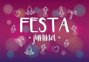 Festa Icon Vectors on Blurred Background