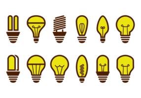 Ampoule Icons Vector