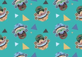 Free Onam Seamless Pattern Vector Illustration