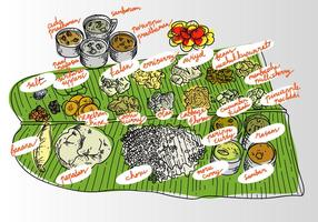 Free Onam Food Vector Illustration