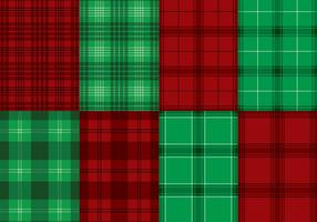 Flanelle Red Green Texture Vector