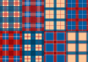 Flanell Röd Blå textur vektor