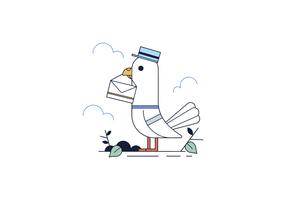 Vector libre del mensajero de la paloma