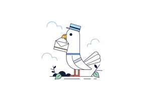 Fri Messenger Pigeon vektor