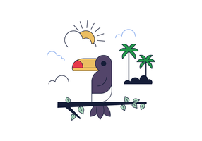 Freie Toucan Vector
