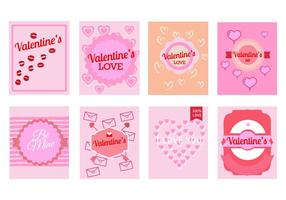 Día Tarjetas de felicitación de San Valentín del vector gratuito