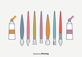 Artiste Brosses Vector Set