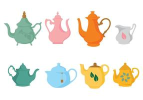 Free Different Teapot Icons Vector