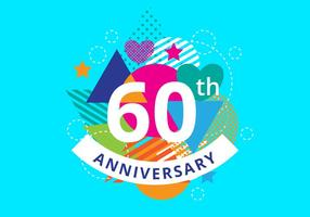 60th Anniversary Background vector