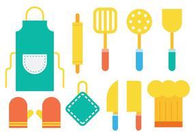 Vector brillante Iconos de Cocina