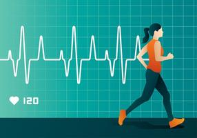 Heart Rate Run Free Vector